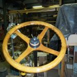 RESTORED ORIGINAL WALNUT WHEEL 5