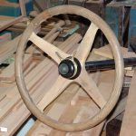 Wood Steering Wheel with throttle controls